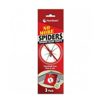 PestShield Spider Trap 3 Pack Poison Free Glue Boards