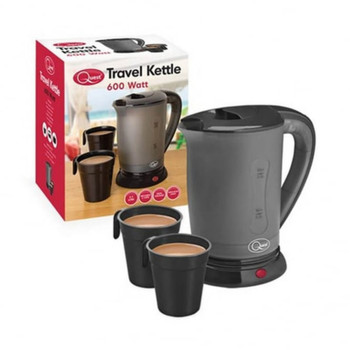 Black Travel Kettle with Cups