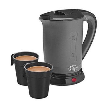 Quest Black Travel Kettle with Cups