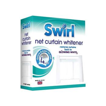 Swirl Net Curtain Whitener 4 Sachets Glowing White