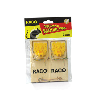 Raco Easy to Set Wooden Mouse taps 2pack