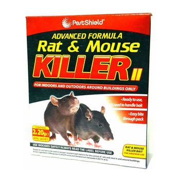 Pestshield Advance Formula Rat & Mouse Killer Poison Sachets Kills Rodents