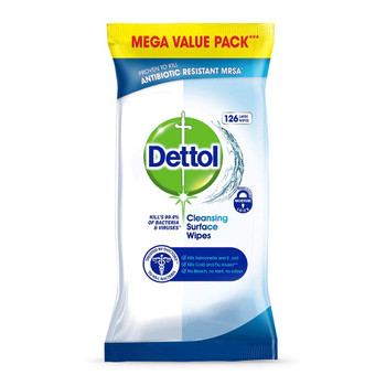 Dettol Surface Cleaning Wipes Antibacterial Airtight Resealable Pack 126pk-1