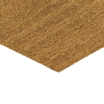 JVL Plain Natural Latex Coir Doormat 40x70cm
