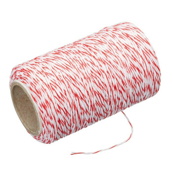Kitchen Craft Cooking String Butchers Twine Red & White Roll + Cutter 60 Metres