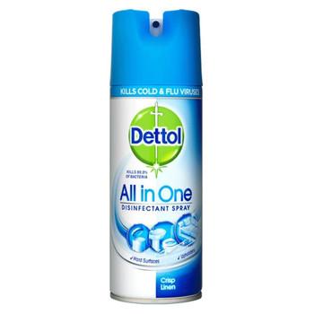 Dettol All-in-One Crisp Linen Disinfectant Spray, 400ml