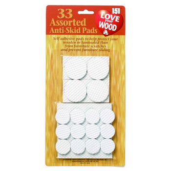 151 Love Your Wood Anti - Skid Pads 33Pk