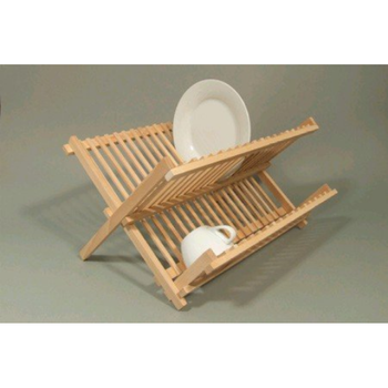 Apollo Beech Wood Folding Dish Drainer 2 Tier