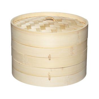 KitchenCraft World of Flavours Bamboo Steamer Basket, 2 Tier, 20 cm