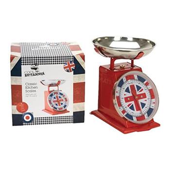 Cool Britannia Union Jack Retro Kitchen Scales 5kg
