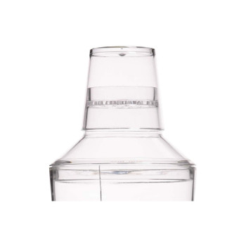 BarCraft Easy Cocktail Shaker with Printed Recipes, Acrylic, 700 ml