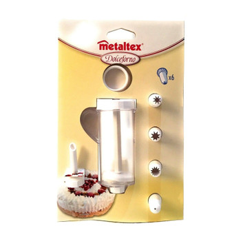 Metaltex Icing Bag Set with 6 Nozzles