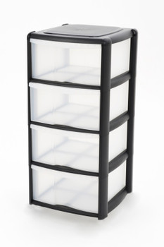Tontarelli Drawer Tower Black