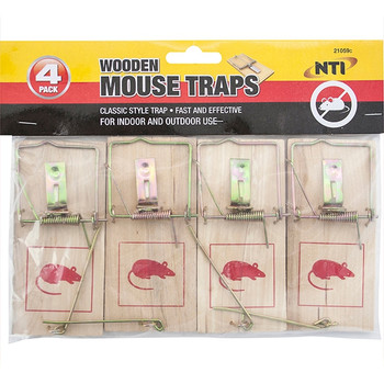NTI Wooden Mouse Traps 4Pack