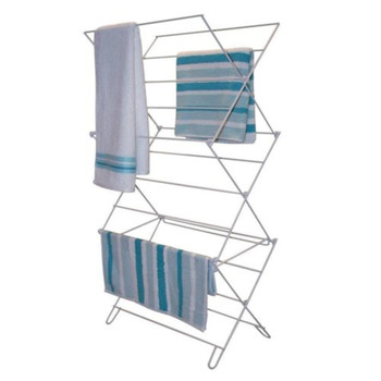 Smart 3 Tier Value Cloths Airer Stainless Steel White