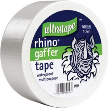 Ultratape Rhino tape 50mm 50m Multipurpose Water Proof Gaffer Tape White