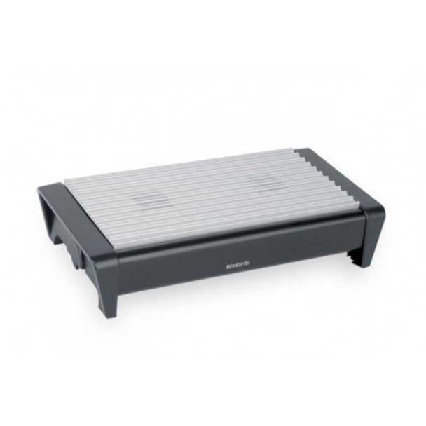 Food Warmer, 2 Burner - Matt Black with Grey Grill