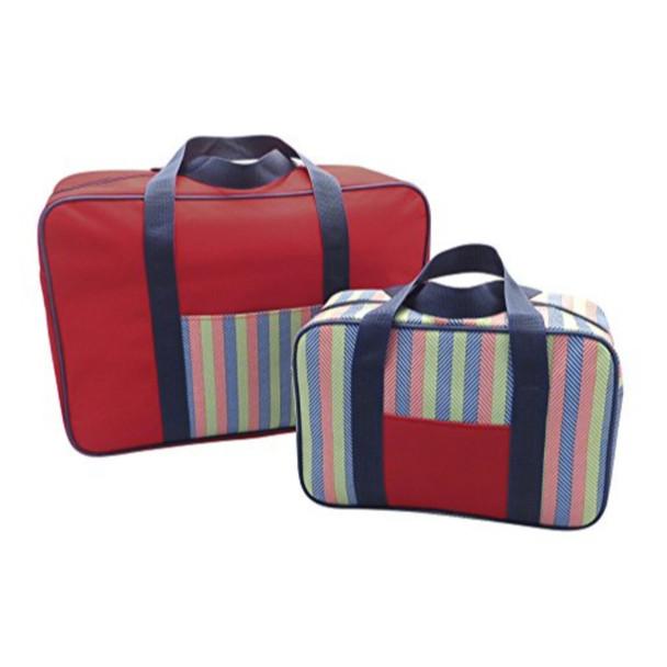 2 Pack Cooler Bag Set Stripe