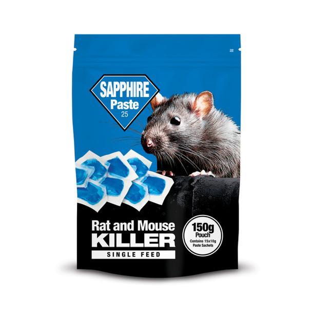 Lodi Sapphire Paste 25 Rat & Mouse Killer Poison Brodifacoum 150g