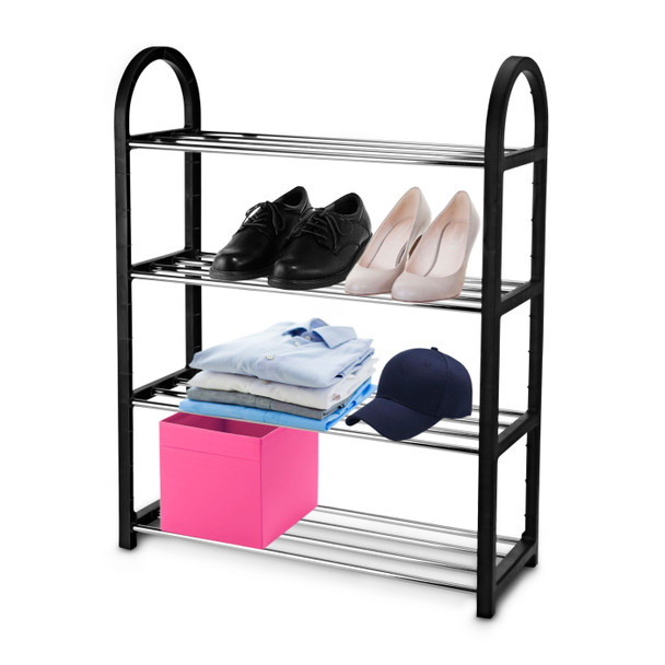 4 tier metal bar shoe rack