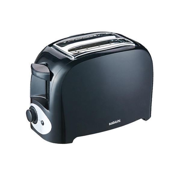 Sabichi 2 slice toaster black