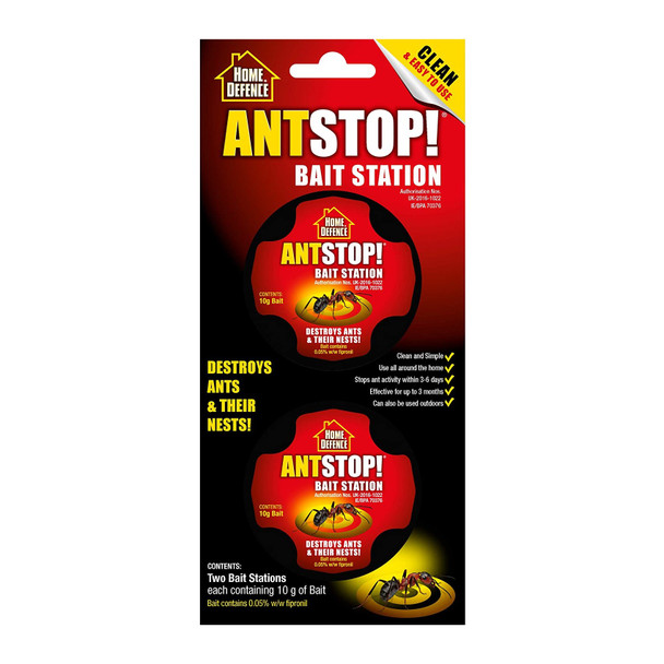 Home Defence Ant Stop! Bait Station 2 Pack