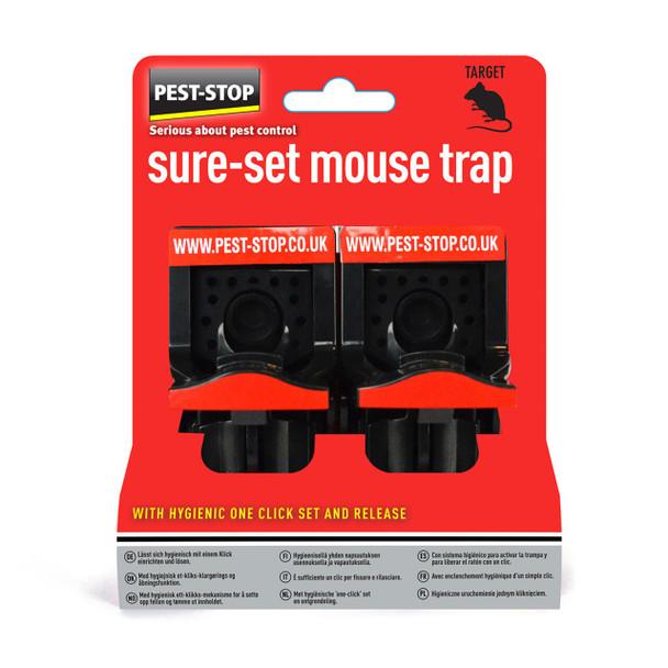Pest Stop Sure-Set Mouse Trap 2 Pack
