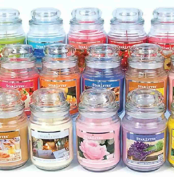 Scented Glass Candle Jar Natural Soy