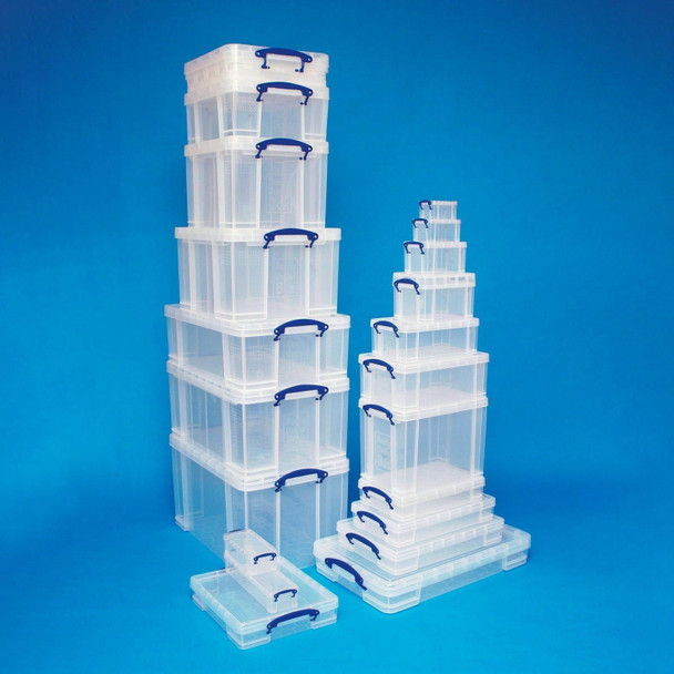 Really Useful Boxes Plastic Storage With Clip Lock Lid