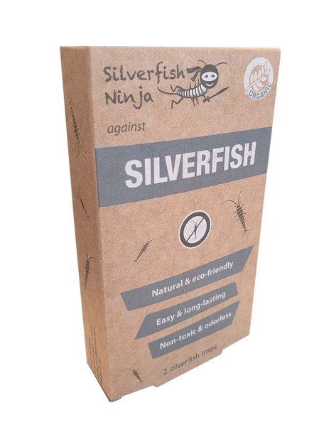 Ninja Silverfish Traps with Attractant Bait Tablets 2 Pack