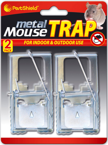 Pestshield Metal Mouse traps 2Pack