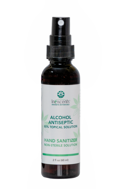 Alcohol Antiseptic 80% Topical Solution Hand Sanitizer 2oz.