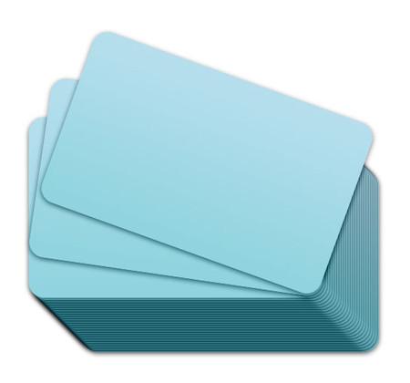 Light Blue Blank Plastic Cards