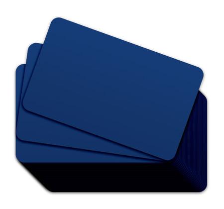 Blue Blank Plastic Cards