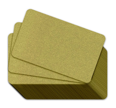 Gold Blank Plastic Cards