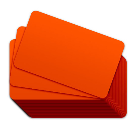 Orange Blank Plastic Cards