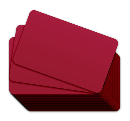 Cranberry Blank Plastic Cards