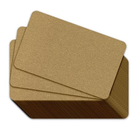 Metallic Red Gold Metallic Plastic Cards