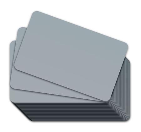 Gray Blank Plastic Cards