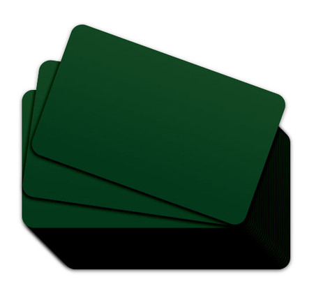 Medium Green Blank Plastic Cards