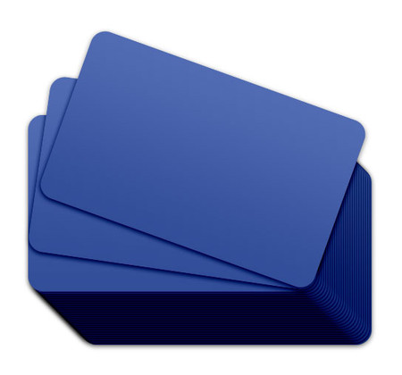 Hospital Blue Blank Plastic Cards