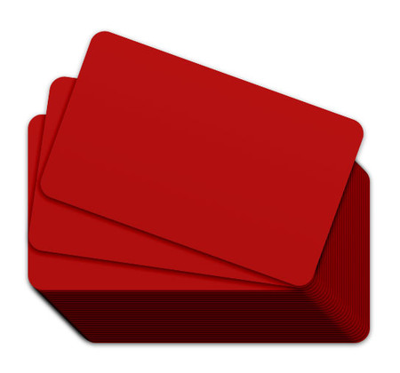 Red Blank Plastic Cards