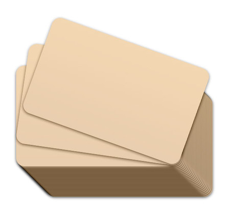 Tan Blank Plastic Cards