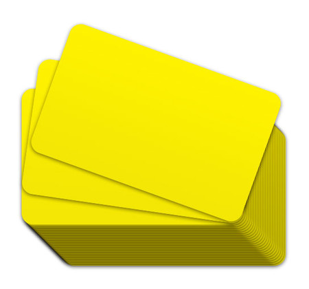 Yellow Blank Plastic Cards