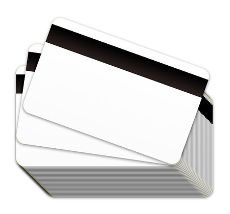 White Blank Plastic Cards with a Magnetic Stripe