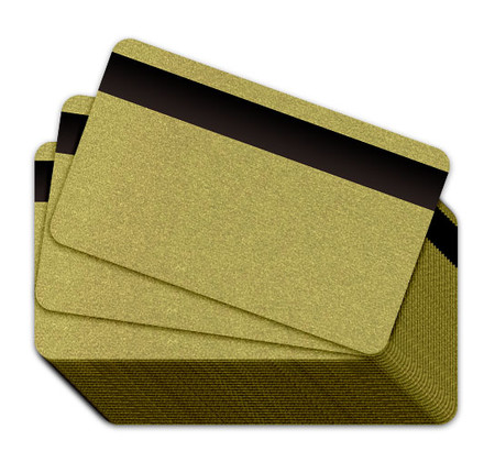 Metallic Green Gold Blank Plastic Cards with a Magnetic Stripe