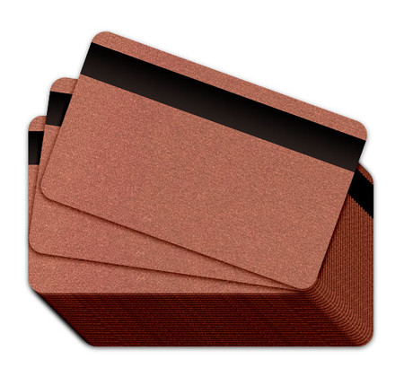 Metallic Copper Blank Plastic Cards with a magnetic stripe