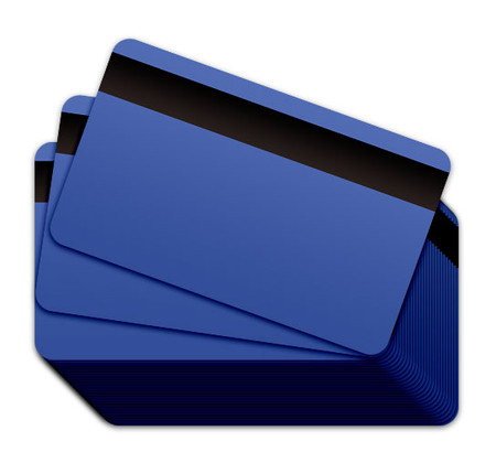 Hospital Blue Blank Plastic Cards with a magnetic stripe