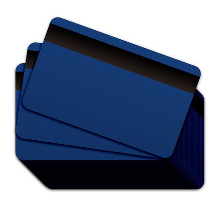 Blue Blank Plastic Cards with Magnetic Stripe