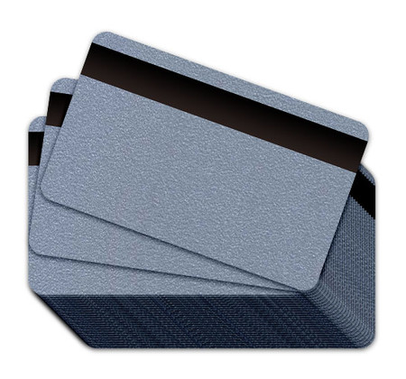 Silver Blank Plastic Cards with Magnetic Stripe
